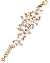 Lulu Frost Jackie Web Link Bracelet - Metallic