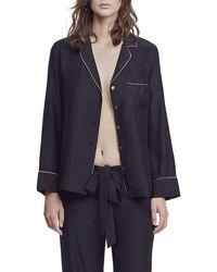 Kiki de Montparnasse - Long-sleeve Silk Pajama Top - Lyst