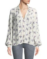 Ba&sh - Fausta Floral Button-front Blouse - Lyst