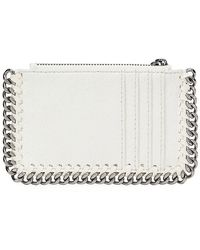 Stella McCartney Falabella Whipstitch Card Case - White