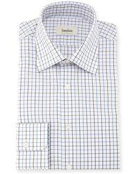 Neiman Marcus - Tattersall Check Dress Shirt - Lyst