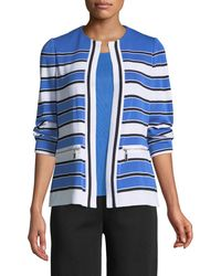 Misook | Zip-pocket Striped Jacket | Lyst