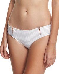 Ále By Alessandra - Spring Training Zipper Cheeky Swim Bikini Bottom - Lyst