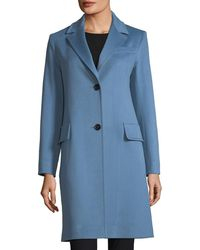 Fleurette - Modern Notched-collar Two-button Wool Reefer Coat - Lyst