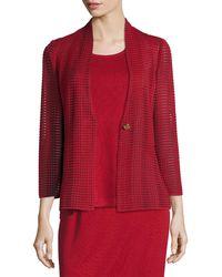 Misook | Subtly Sheer Textured Single-button Jacket | Lyst
