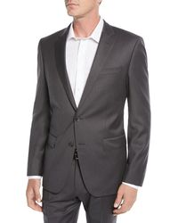 BOSS - Men's Stretch-wool Basic Two-piece Suit Gray - Lyst
