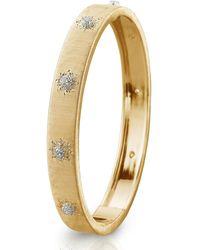 Buccellati Macri Classica 18k Gold Diamond Bangle - Metallic