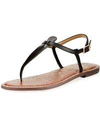 c5947ef09 Sam Edelman - Women s Gigi Thong Sandals - Lyst