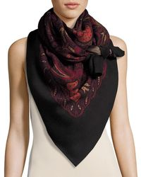 Alexander McQueen | Reversible Paisley & Leopard Square Scarf | Lyst
