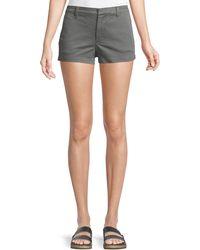 J Brand - Clara Mid-rise Luxe Twill Shorts - Lyst