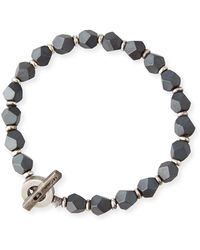 M. Cohen Men's Hematite Axiom Bracelet, Grey - Gray