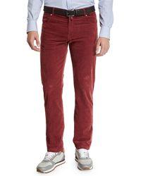 Kiton - Men's Straight-leg Corduroy 5-pocket Pants - Lyst