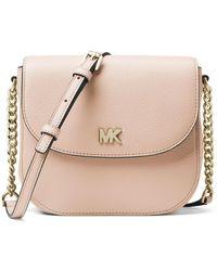 MICHAEL Michael Kors - Half-dome Leather Crossbody Bag - Golden Hardware - Lyst