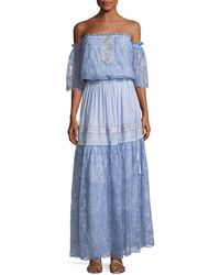 Queen & Pawn - Lydia-troy Off-the-shoulder Embroidered Lace Maxi Dress - Lyst