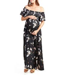 Ingrid & Isabel - Ingrid & Isabel Off The Shoulder Maternity Maxi Dress - Lyst