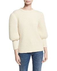 Co. - Ribbed Balloon-sleeve Sweater - Lyst