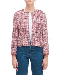 Kate Spade Textured Tweed Jacket - Pink