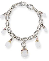 Konstantino - Pythia Silver Crystal Charm Bracelet - Lyst