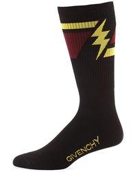 Givenchy - Men's Geometric Lightning Bolt Socks - Lyst