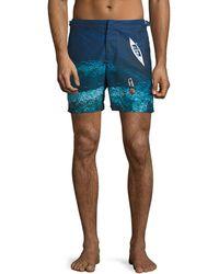 Deep Sea Mid-Length Swim Shorts - Blue Orlebar Brown Ost Release Dates iKIiBo3Vh