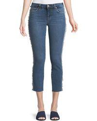 Joe's Jeans - Icon Tuxedo-stripe Cropped Jeans - Lyst