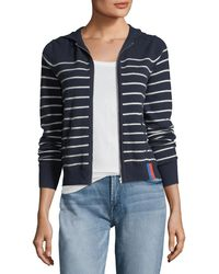 Kule - The Drake Zip-front Striped Cashmere Sweater Jacket - Lyst