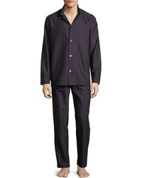 Hanro - Select Paisley-print Long Pajama Set - Lyst
