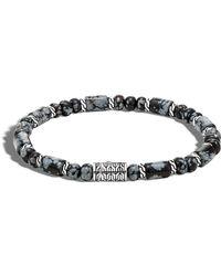 John Hardy | Men's Batu Smoky Agate Bracelet | Lyst