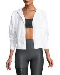 Alo Yoga - Aqua Woven Mesh Zip-front Activewear Jacket - Lyst