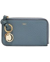 5aeef71321 Chloé Sally Textured leather Wallet in Pink - Lyst