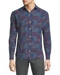Culturata - Floral-print Linen Sport Shirt - Lyst