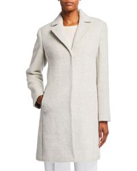 Eileen Fisher Undyed Alpaca Plush Coat - White