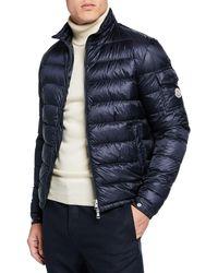 e33df4b217b9 Lyst - Moncler Lambot Down Jacket In Blue in Blue for Men