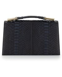 Jason Wu - Charlotte Origami Python & Leather Evening Clutch Bag - Lyst