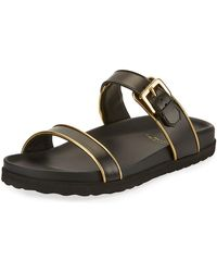 Buscemi - Molded Band Flat Slide Sandals - Lyst