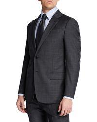 Emporio Armani - Men's Super 140s Plaid Two-piece Suit - Lyst
