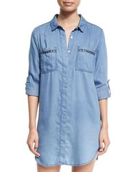 Seafolly - Embroidered Beach Tunic Shirt - Lyst