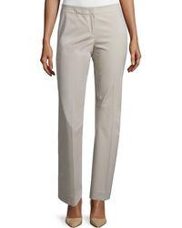 Lafayette 148 New York Barrow Stretch-wool Pants - Gray