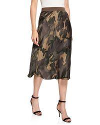 ATM Camo-print Silk Skirt - Multicolour