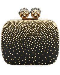 Alexander McQueen - Queen & King Skull Mini Box Clutch Bag - Lyst