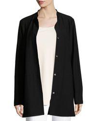 Eileen Fisher - Washable Crepe Long Jacket - Lyst