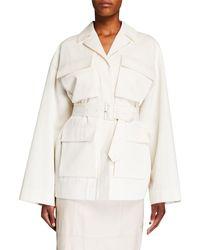 Co. Tton/wool Safari Jacket - White