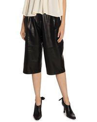 Proenza Schouler Leather High-waist Belted Shorts - Black