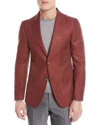 Z Zegna - Linen/cotton Herringbone Two-button Jacket - Lyst