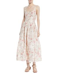 Brock Collection - Daphne Scoop-neck Sleeveless Cherry Blossom-print Long Dress - Lyst