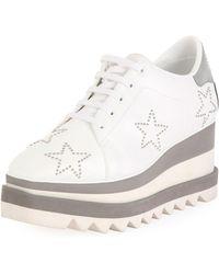 20361ad33e6e Lyst - Stella McCartney Elyse Stud-star Platform Sneakers in White