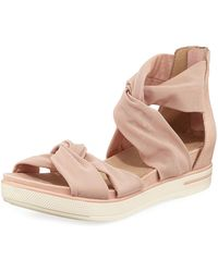 44681018466f Lyst - Eileen Fisher Sport Open Toe Sandals in Natural