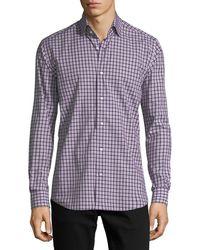 Neiman Marcus | Plaid Long-sleeve Sport Shirt | Lyst