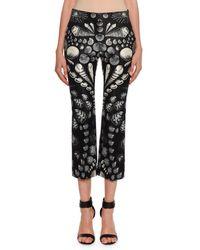 Alexander McQueen - Cabinet Shell Print Kickback Crop Pants - Lyst
