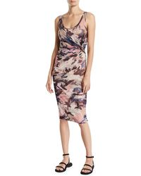 Fuzzi - Camouflage Scoop-neck Fitted Tank Dress - Lyst